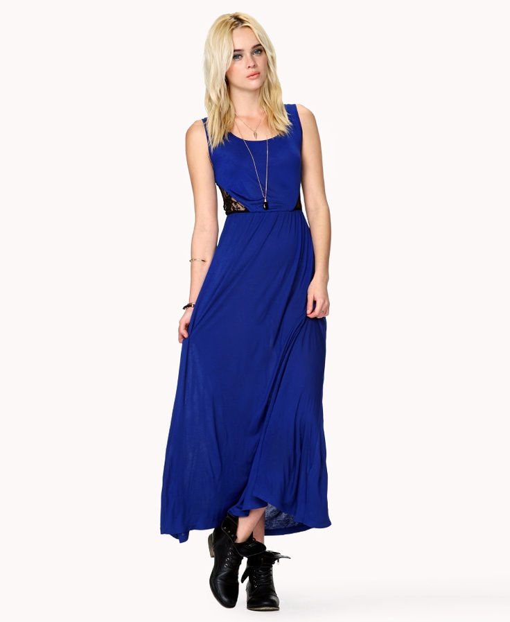 forever 21 contrast maxi dress