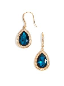 baublebar pave gem tear drop earrings